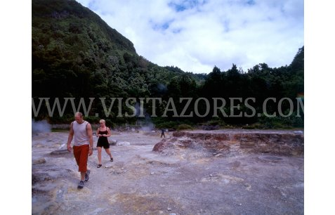 Hotsprings at Furnas lake